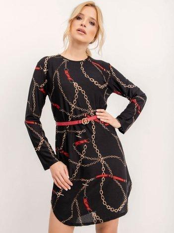 Czarna sukienka Stylist