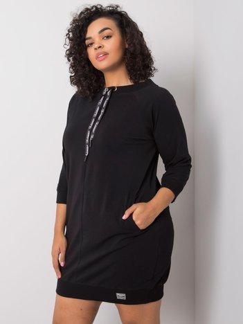 Czarna sukienka bawełniana Harriet