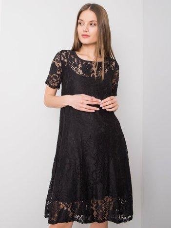 Czarna sukienka koronkowa Madeline