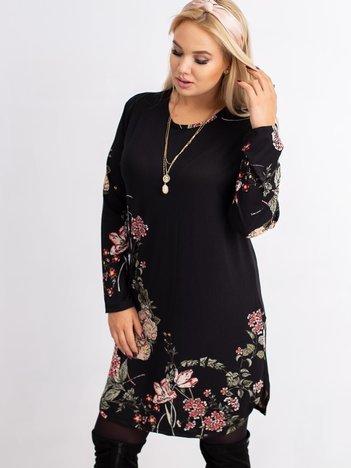 Czarna sukienka plus size Rich