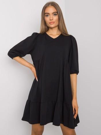 Czarna sukienka z bawełny Yelda