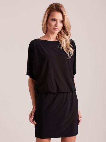 c11f6dae6a Czarna sukienka z dekoltem na plecach