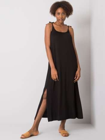Czarna sukienka z rozcięciem Kailey