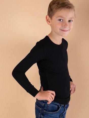 Czarna termoaktywna bluzka chłopięca