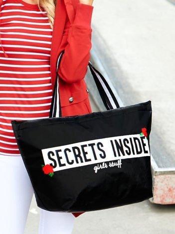 Czarna torba damska SECRETS INSIDE