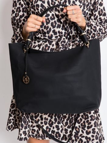 Czarna torba shopper