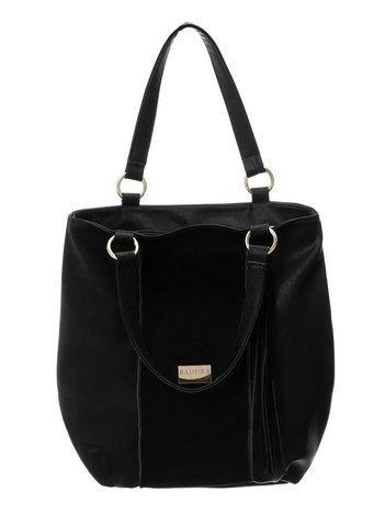 Czarna torba ze skóry ekologicznej BADURA