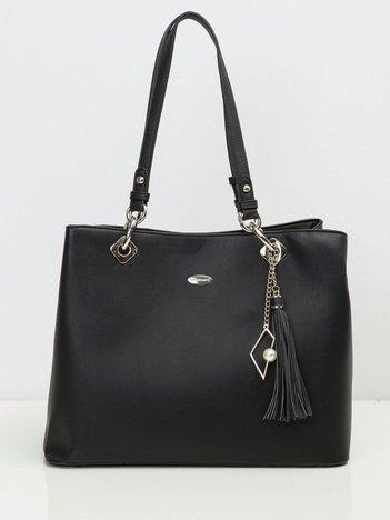 Czarna torebka damska z ekologicznej skóry