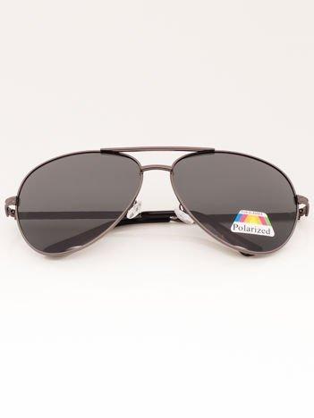 Czarne Okulary Przeciwsłoneczne POLARYZACYJNE Pilotki Aviatory