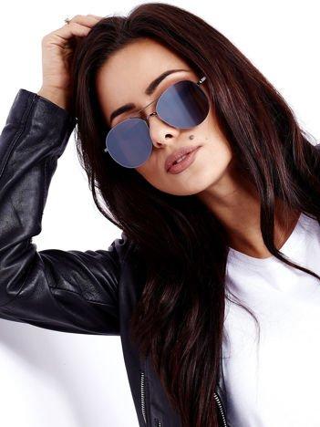 Czarne Owalne Okulary przeciwsłoneczne