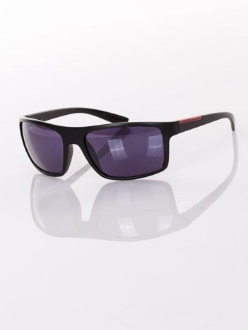Czarne SPORTOWE męskie okulary przeciwsłoneczne