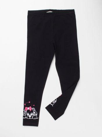Czarne bawełniane legginsy dla dziewczynki
