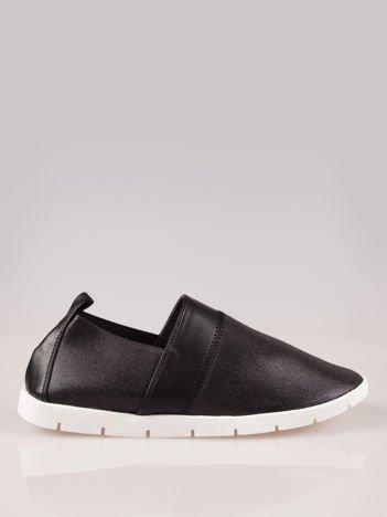 Czarne buty slippers Dakota na podeszwie traktorowej