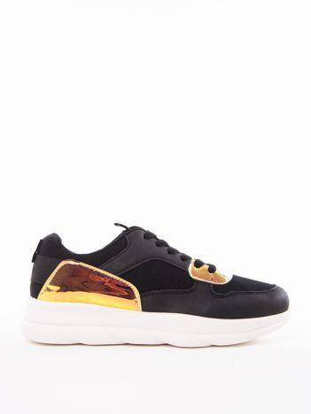 c9e2bb7f8a Czarne buty sportowe MARQUIZ z holograficznymi wstawkami