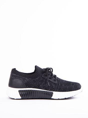 Czarne buty sportowe Prmavera z błyszczącą nitką