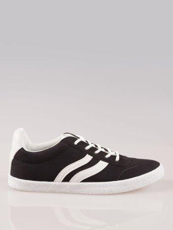 Czarne buty sportowe w stylu casual Kash