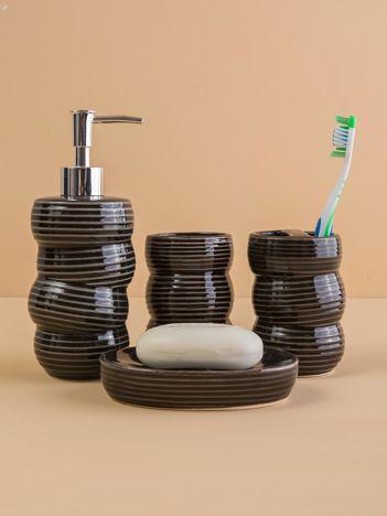 Czarne ceramiczne akcesoria łazienkowe