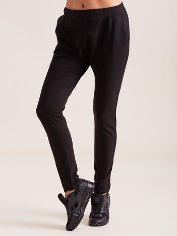 Czarne damskie bawełniane spodnie dresowe