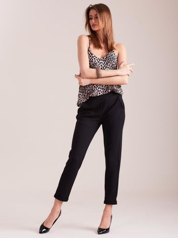 Czarne damskie spodnie