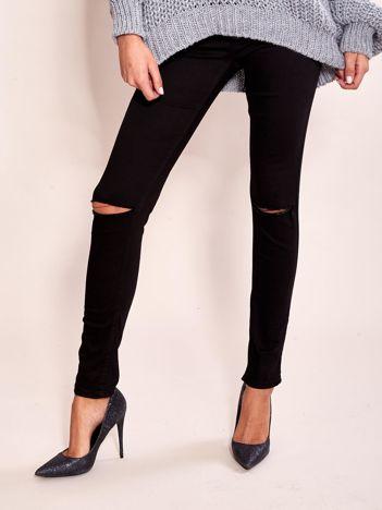Czarne damskie spodnie skinny