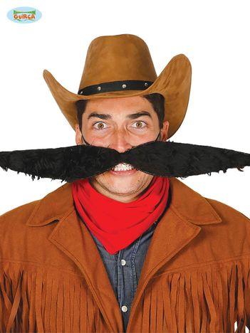 Czarne duże wąsy