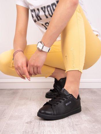 Czarne gładkie buty sportowe BIG STAR z eco skóry