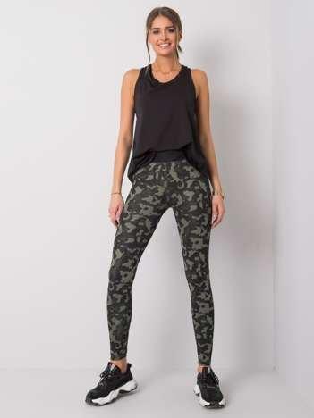Czarne-khaki legginsy Gracey FOR FITNESS