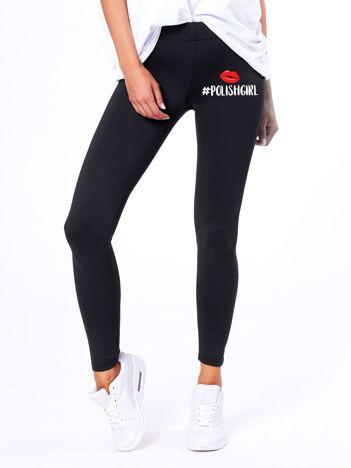 Czarne legginsy POLISH GIRL