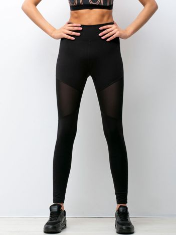 Czarne legginsy Powerful