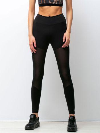 Czarne legginsy Upside