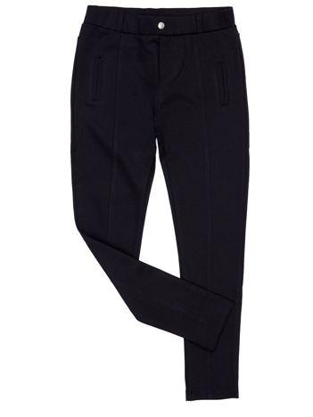 Czarne legginsy dla dziewczynki z przeszyciami