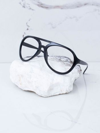 Czarne okulary bez szkieł