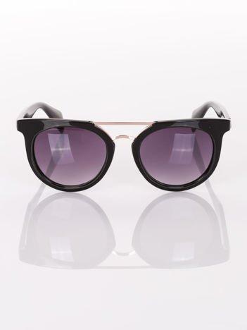 Czarne okulary przeciwsłoneczne VINTAGE RETRO