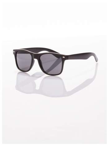 Czarne okulary z klasyczną oprawką WAYFARER NERD z filtrami