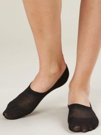Czarne skarpetki stopki