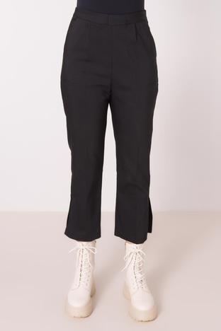 Czarne spodnie 7/8 z wysokim stanem BSL