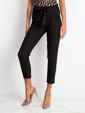 Czarne spodnie Devon