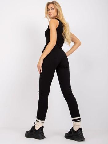 Czarne spodnie Faster