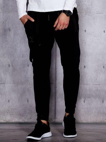 Czarne spodnie dresowe męskie