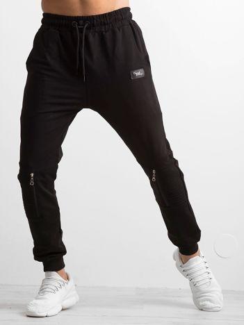 Czarne spodnie męskie dresowe
