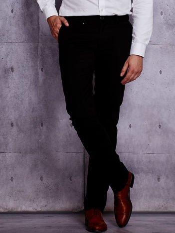 Czarne spodnie męskie z prostą nogawką