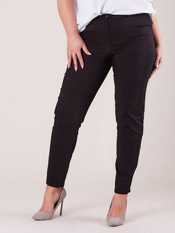 Czarne spodnie slim fit PLUS SIZE