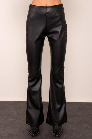 Czarne spodnie z ekoskóry BSL