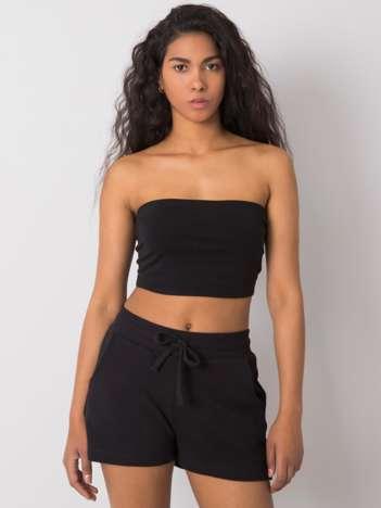 Czarne szorty bawełniane Anastasie FOR FITNESS