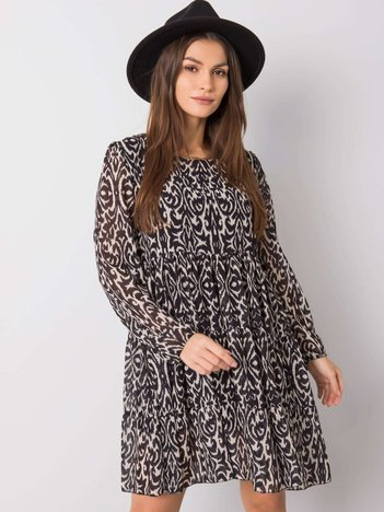 Czarno-beżowa sukienka Kimber OCH BELLA