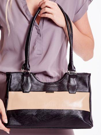 2abb25b5d1901 Czarno-beżowa torebka na ramię