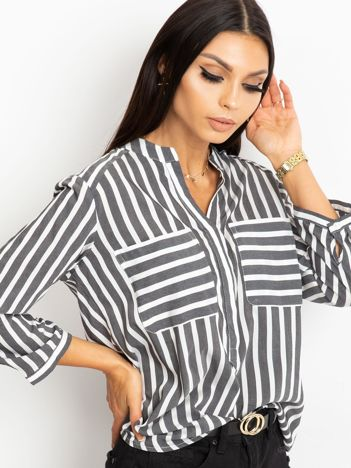 Czarno-biała bluzka Sienna