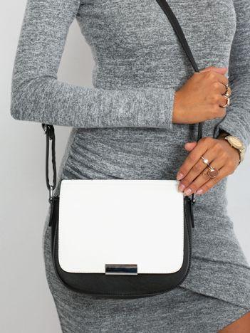 Czarno-biała elegancka listonoszka