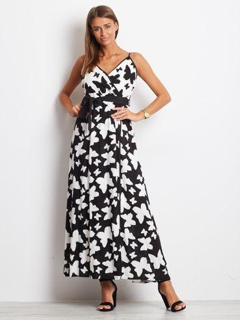 Czarno-biała sukienka Butterflies