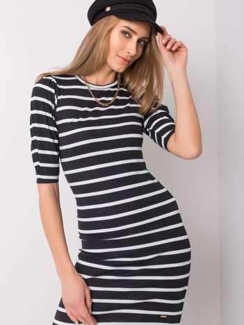 Czarno-biała sukienka Dora NIE ZNASZ MNIE